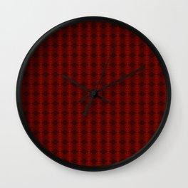 Blood: Pattern Wall Clock