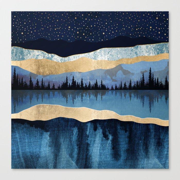 Midnight Lake Leinwanddruck