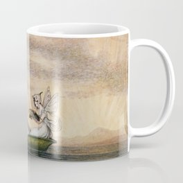 """Fairies Floating Downstream"" by Amelia Jane Murray Coffee Mug"