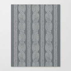 Cable Greys Canvas Print