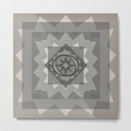 gray boho star Metal Print