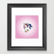 Nova the Unicorn Framed Art Print