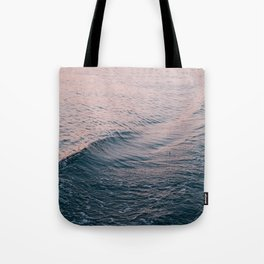 Pink Sunset Waves Tote Bag