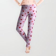Valentines - Pink Heart Pattern Leggings