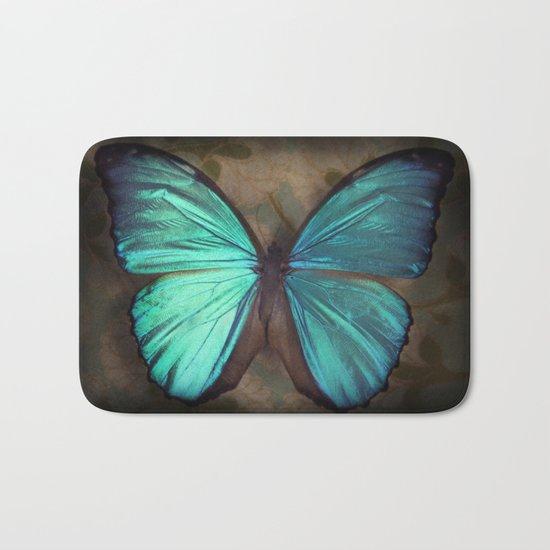Vintage Butterfly Bath Mat