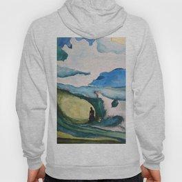 Watercolor Surfer Hoody