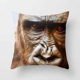 COMPASSION OF THE GORILLA Throw Pillow