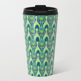 Peacock Feather Print Travel Mug