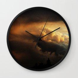 angry cloud Wall Clock