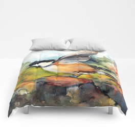 Coal tit landing Comforters