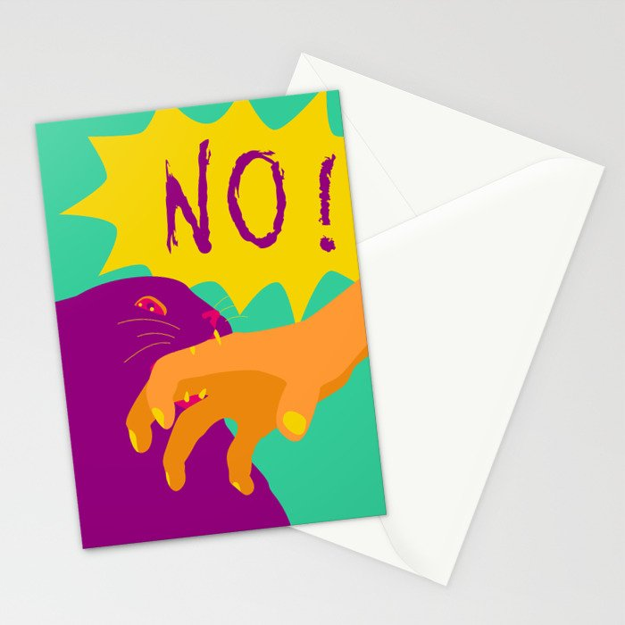 Pussy Bites Back Stationery Cards