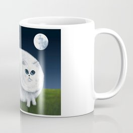 Fat Cat Looks at the Moon Coffee Mug