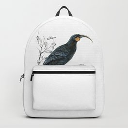 Huia, native bird of New Zealand Backpack