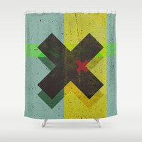 cross Shower Curtains featuring CROSS by Metron
