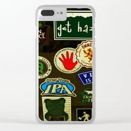 beer sticker party Clear iPhone Case