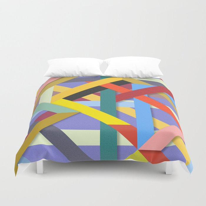 Abstract #225 Corners, Intersections & Dead Ends Duvet Cover