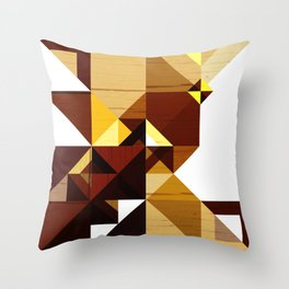 Water Bottle Abstract Art Throw Pillow