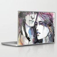 onward Laptop & iPad Skins featuring A Tattered Heart by JaelMorayDesigns