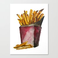 fries Canvas Prints featuring Fries by Britta Loucas