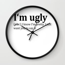 Ugly Dictionary Meme Wall Clock