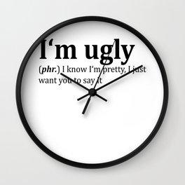 Ugly Dictionary Meme Wall Clock