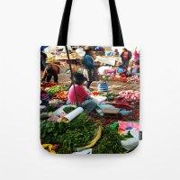 peru Tote Bags featuring PERU by Camille Defago