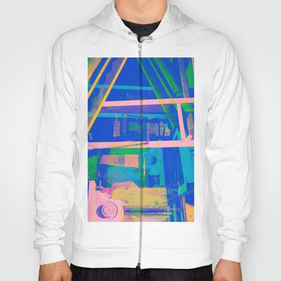 Industrial Abstract Blue 2 Hoody
