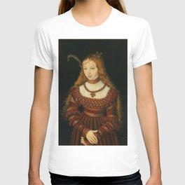 """Lucas Cranach the Elder """"Portrait of Princess Sibylle of Cleve"""" T-shirt"""