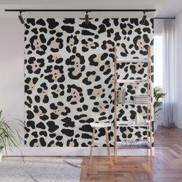 Snow Leopard Seamless Pattern Wall Mural