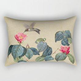 Hummingbird and Japanese Camillea Rectangular Pillow