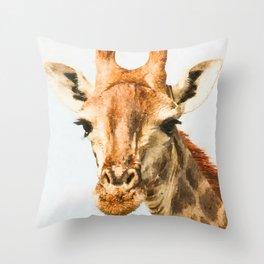 Giraffe watercolor painting #1 Throw Pillow