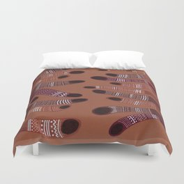 moving towards each other Duvet Cover