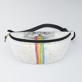 Kitten Puking Rainbows Cat Rainbow Vomit Fanny Pack
