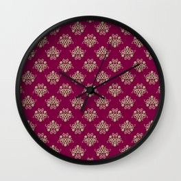 Golden Damask Wall Clock