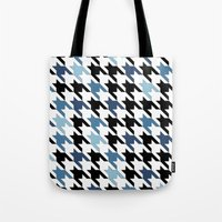 tooth Tote Bags featuring Blue Tooth by Project M