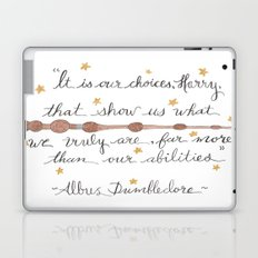 Choices Dumbledore J.K. Rowling Quote Laptop & iPad Skin