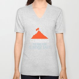 Climbing hiking bouldering Alps Unisex V-Neck
