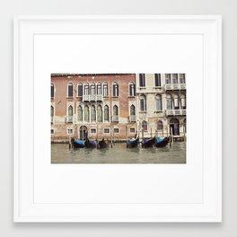 boat parking::venice, italy Framed Art Print