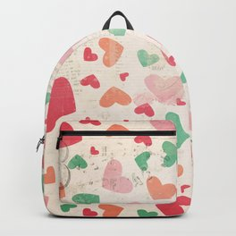 Textured Heats Pattern Backpack