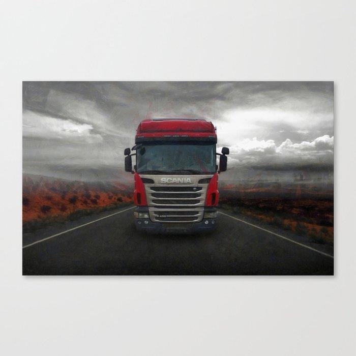 Truck SCANIA Canvas Print
