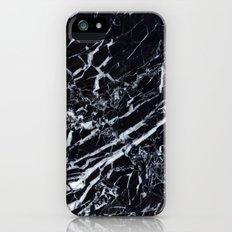 Real Marble Black iPhone SE Slim Case