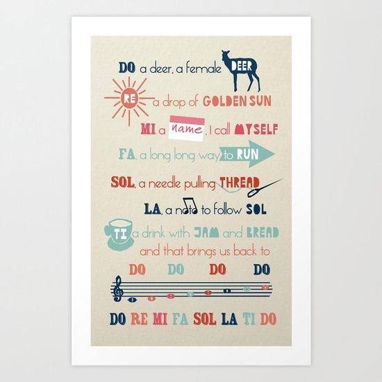 Do Re Mi Fa Sol La Ti Do Art Print