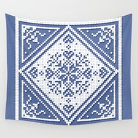 scandinavian Wall Tapestries featuring Scandinavian Patterns I by Fischer Fine Arts