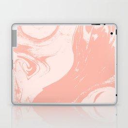 Raku - spilled ink abstract watercolor minimal marble pattern japanese paper marbling Laptop & iPad Skin
