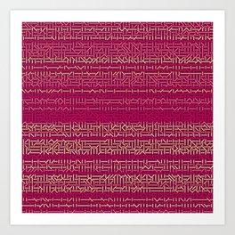 45 Degrees: Pink Shock Art Print