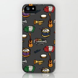 Toy Instruments on Grey iPhone Case