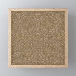Moroccan Style Pattern Mandala Gold Sand Framed Mini Art Print