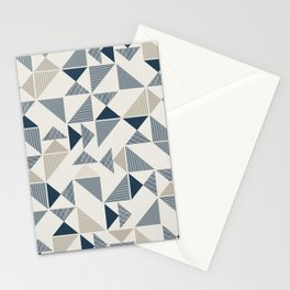 Abstract Geometric Triangle Pattern Stationery Cards