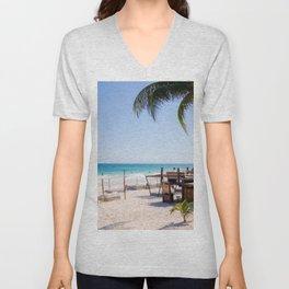 Tulum beach Unisex V-Neck