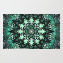 Green Mandala art, sacred geometry high vibration healing print, heart chakra, geometric Rug